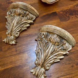 Other - Pair of Baroque Wood Wall Sconces